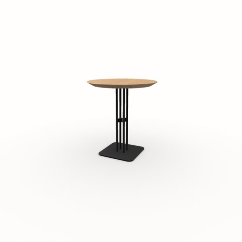Ronde Design bistrotafel | Rest  black | Oak hardwax oil natural light 3041 | Studio HENK | Listing_image