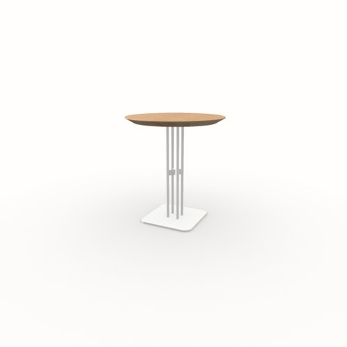 Ronde Design bistrotafel | Rest  wit | Eiken hardwax olie naturel light 3041 | Studio HENK | Listing_image