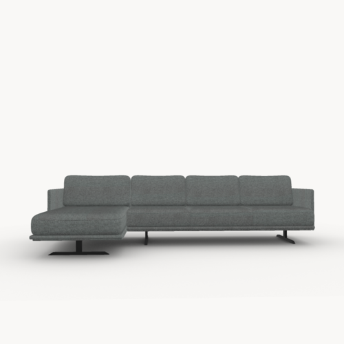 Design zitbank | Modulo sofa 3,5 zits arm right calvados multigrey99965 | Studio HENK