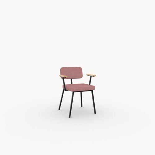 Design eetkamerstoel | Ode Chair with armrest juke pink73 | Studio HENK
