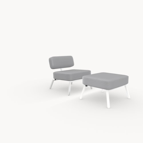 Design zitbank | Ode lounge chair 1 seater without armrest  steelcuttrio3 105 | Studio HENK
