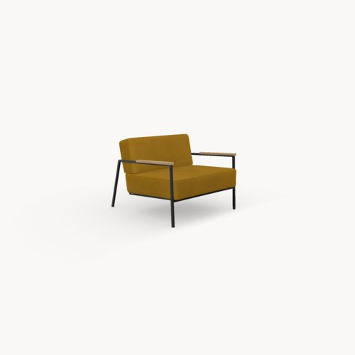 Design zitbank | Co lounge chair 1 seater royal gold132 | Studio HENK