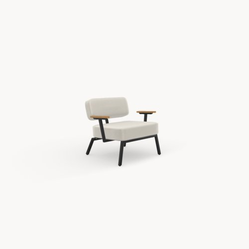 Design zitbank | Ode lounge chair 1 seater with armrest calvados multibeige9995 | Studio HENK