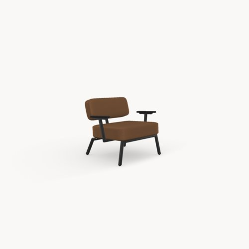 Design zitbank | Ode lounge chair 1 seater with armrest divina3 334 | Studio HENK