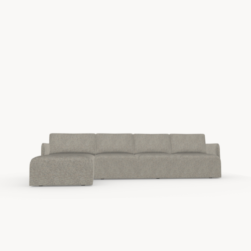 Design zitbank | Cube sofa 3,5 seater arm right facet dolphin180 | Studio HENK
