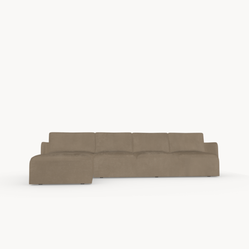 Design zitbank | Cube sofa 3,5 seater arm right royal almond82 | Studio HENK