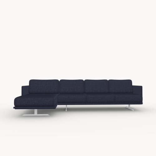 Design zitbank | Modulo sofa 3,5 seater arm right facet navy1007 | Studio HENK