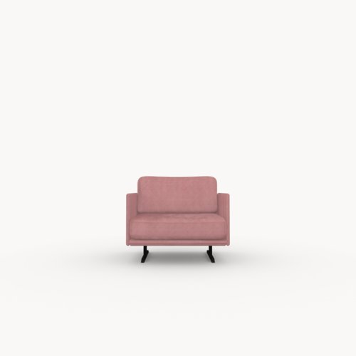 Design zitbank | Modulo lounge chair 1 seater juke pink73 | Studio HENK