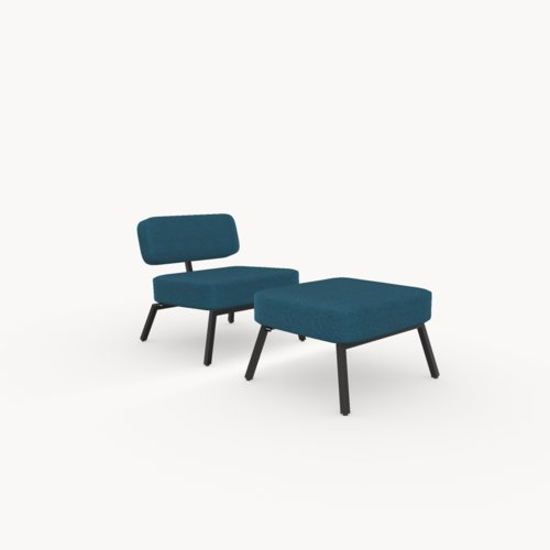 Design zitbank | Ode lounge chair 1 seater without armrest  facet petrol56 | Studio HENK