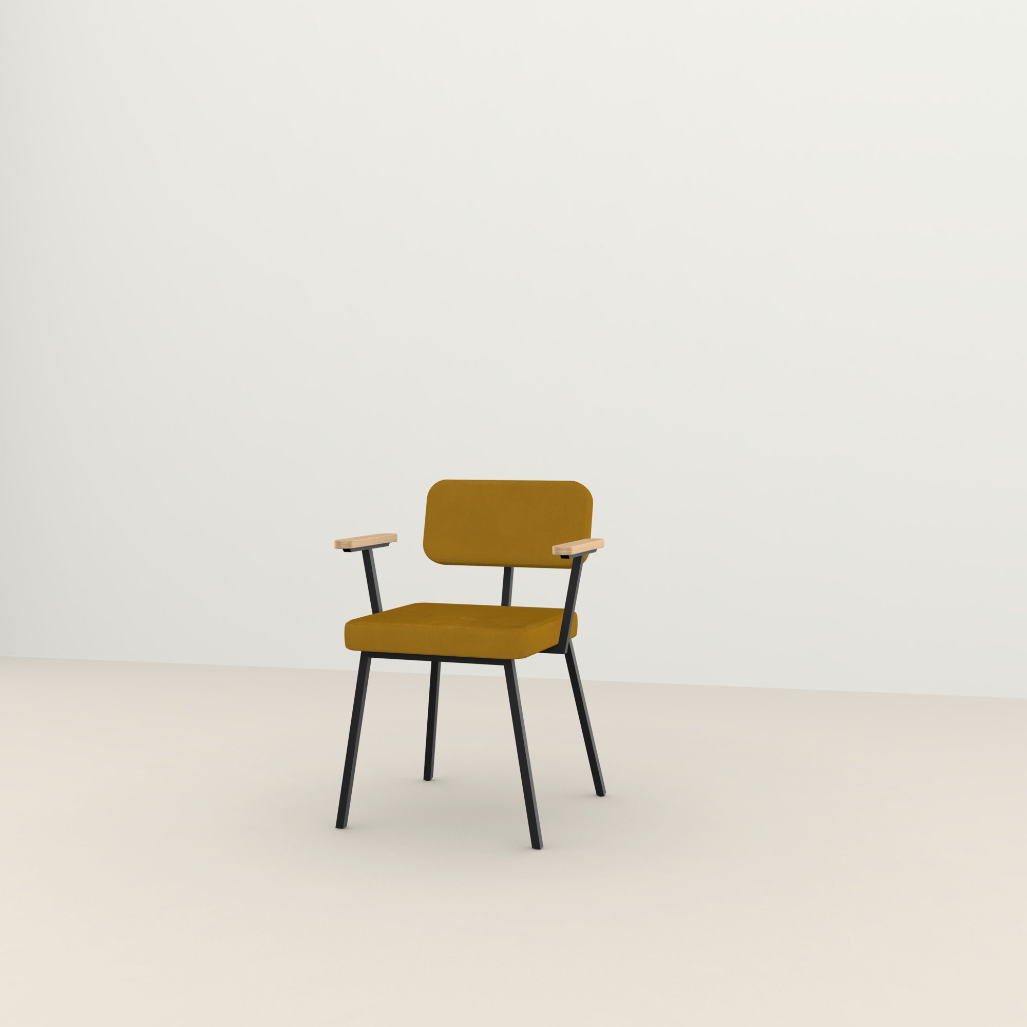 Design eetkamerstoel | Ode Chair with armrest royal gold132 | Studio HENK |
