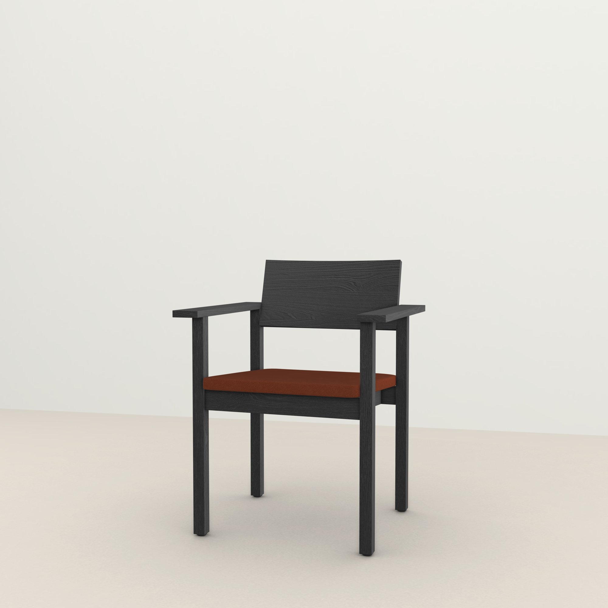 Design eetkamerstoel | Base Chair with armrest upholstered tonus4 474 | Studio HENK |