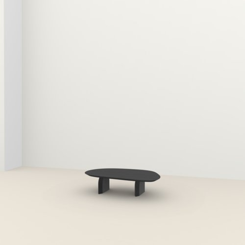 Design Coffee Table | Slot Coffee Table Oak black stain | Oak black stain | Studio HENK | Listing_image