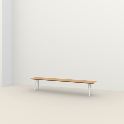 dining bench | Butterfly Bench Steel white powdercoating | Oak hardwax oil natural light 3041 | Studio HENK | Listing_image