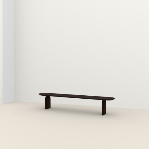 dining bench | Slot bench Oak smoked stain | Oak smoked stain | Studio HENK | Listing_image