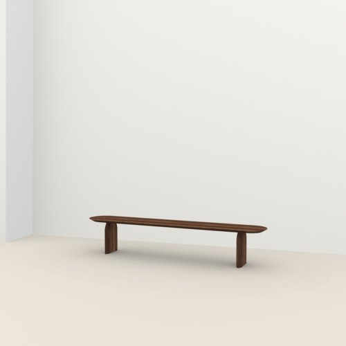dining bench | Slot bench Walnut naturel lacquer | Walnut naturel lacquer | Studio HENK | Listing_image