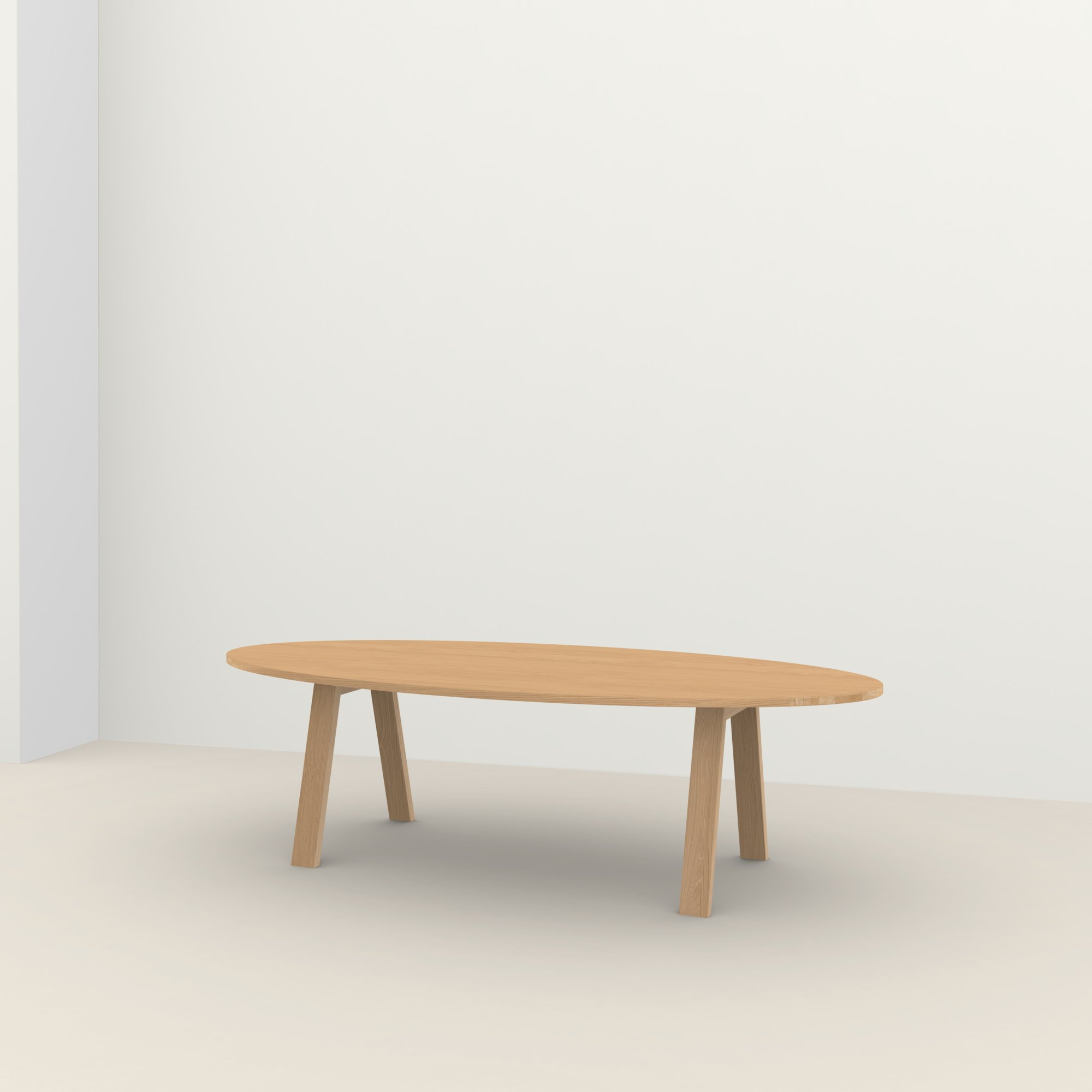 Ovale design tafel op maat | Legno Oak hardwax oil natural light 3041 | Oak hardwax oil natural light 3041 | Studio HENK |