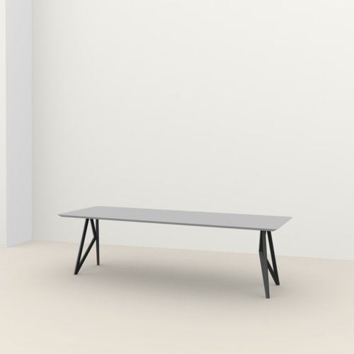 Rectangular design dining table | Butterfly Steel black powdercoating | HPL Fenix grigio efeso | Studio HENK | Listing_image