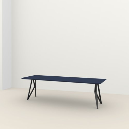 Rectangular design dining table | Butterfly Steel black powdercoating | HPL Fenix blu fes | Studio HENK | Listing_image