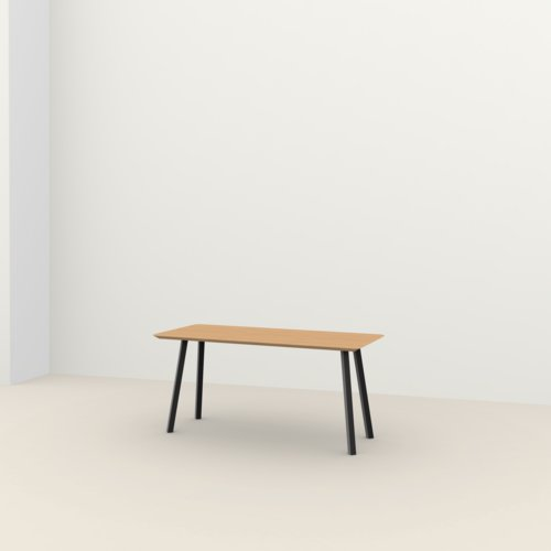 Rechthoekige design tafel op maat | New Classic Home Desk Steel black powdercoating | Oak hardwax oil natural light 3041 | Studio HENK | Listing_image