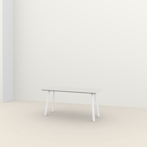 Rechthoekige design tafel op maat | New Classic Home Desk Steel white powdercoating | Oak white lacquer | Studio HENK | Listing_image