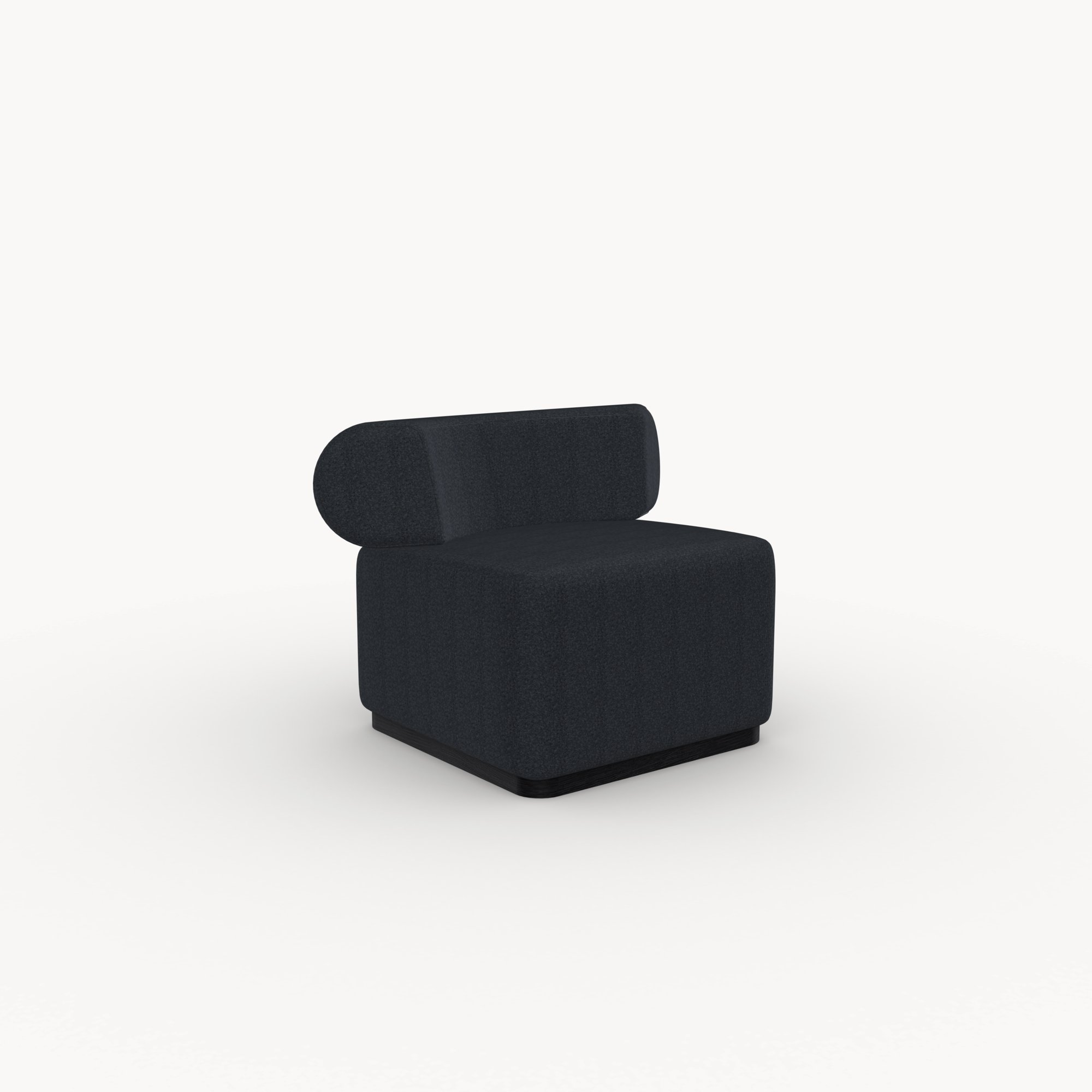 Design zitbank | Luna lounge chair 1 seater facet middengrijs1001 | Studio HENK |