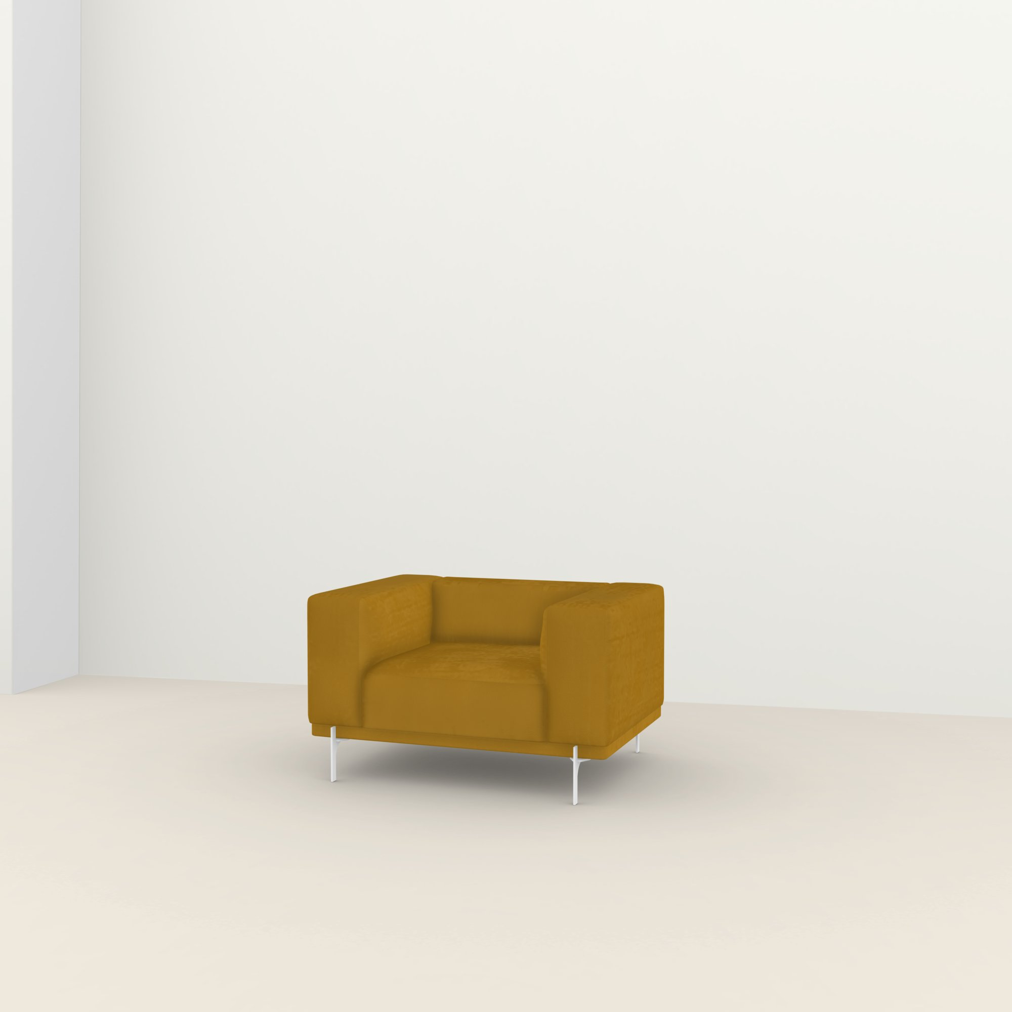 Design zitbank | Cave Lounge Chair 1 seater royal gold132 | Studio HENK |