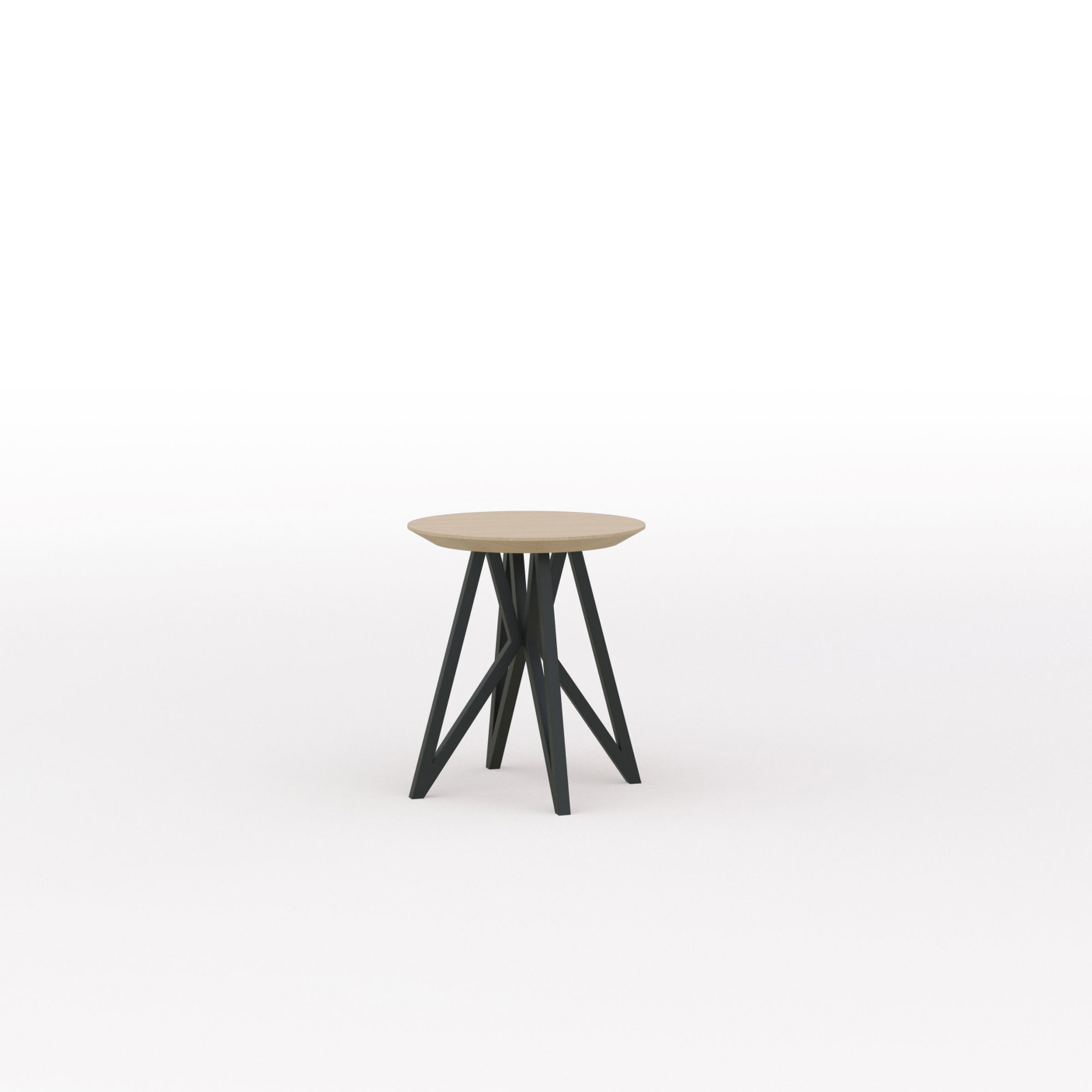 Design salontafel | Butterfly Quadpod Coffee Table Black | Oak hardwax oil natural light 3041 | Studio HENK | Listing_image