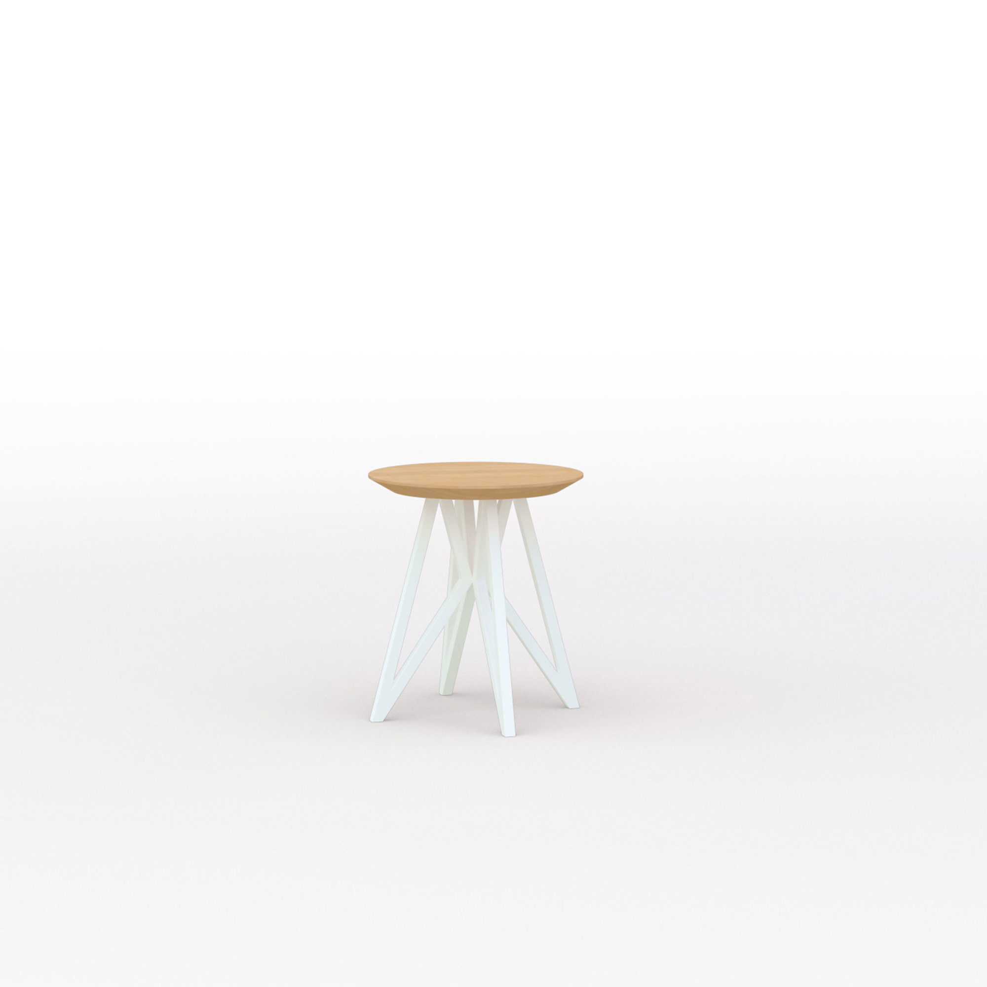Design salontafel | Butterfly Quadpod Coffee Table White | Oak hardwax oil natural 3062 | Studio HENK | Listing_image