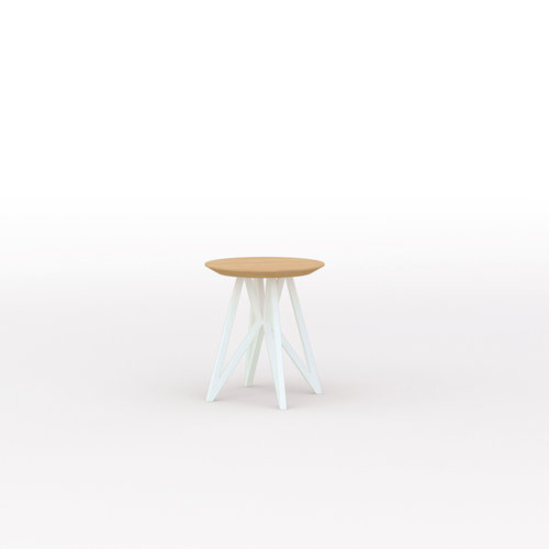 Design salontafel | Butterfly Quadpod Coffee Table wit | Eiken hardwax olie naturel 3062| Studio HENK | Listing_image