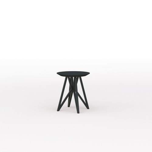 Design salontafel | Butterfly Quadpod Coffee Table Black | Oak black lacquer | Studio HENK | Listing_image