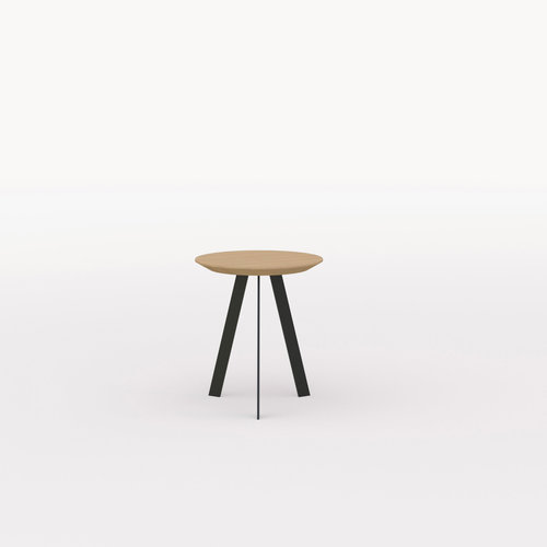 Design salontafel | New Co Coffee Table 40 Round Black | Oak hardwax oil natural light 3041 | Studio HENK | Listing_image