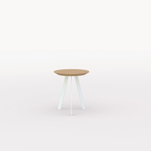 Design salontafel | New Co Coffee Table 40 Round White | Oak hardwax oil natural light 3041 | Studio HENK | Listing_image