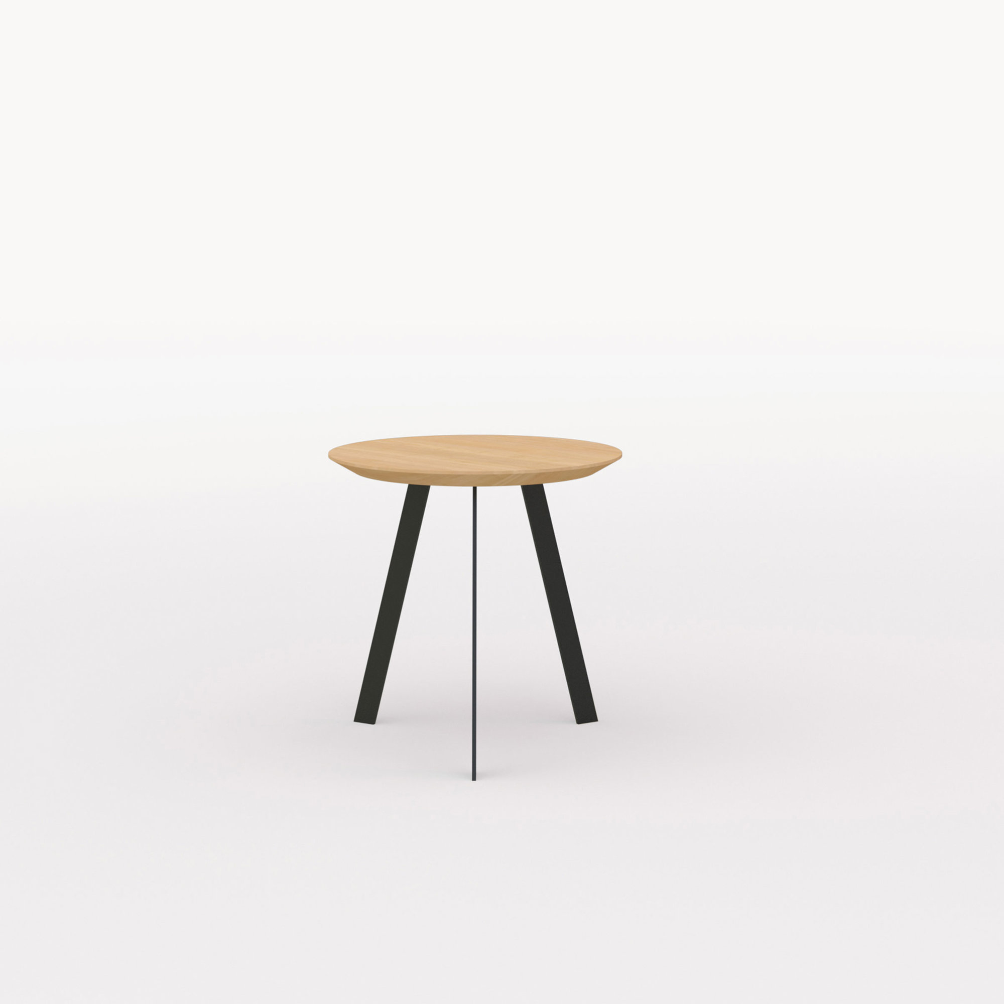 Design salontafel | New Co Coffee Table 50 Round Black | Oak hardwax oil natural 3062 | Studio HENK | Listing_image