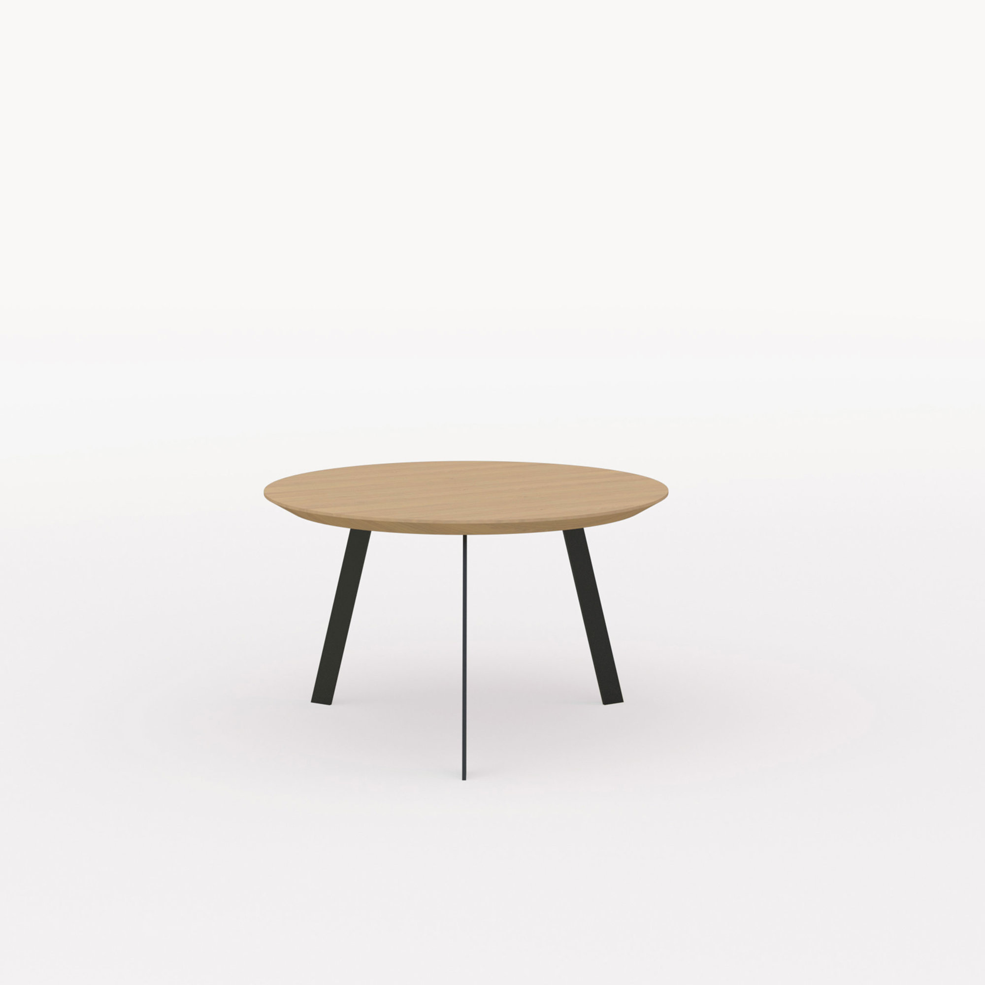 Design salontafel | New Co Coffee Table 90 Round Black | Oak hardwax oil natural light 3041 | Studio HENK | Listing_image