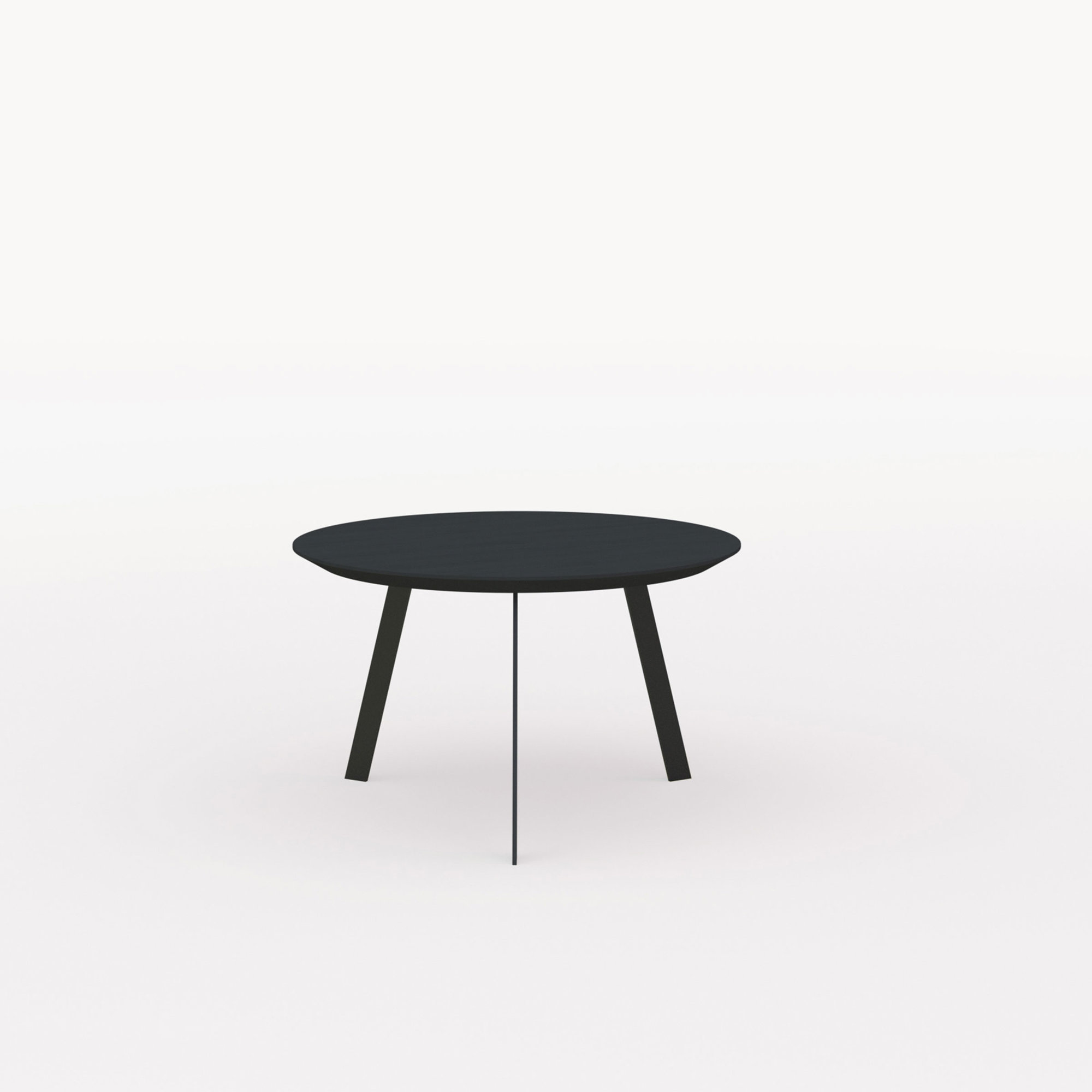 Design salontafel | New Co Coffee Table 90 Round Black | Oak black lacquer | Studio HENK | Listing_image
