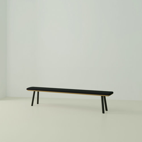 eettafelbank op maat | New Classic Bench Steel black powdercoating | Oak hardwax oil natural 3062 | Studio HENK | Listing_image