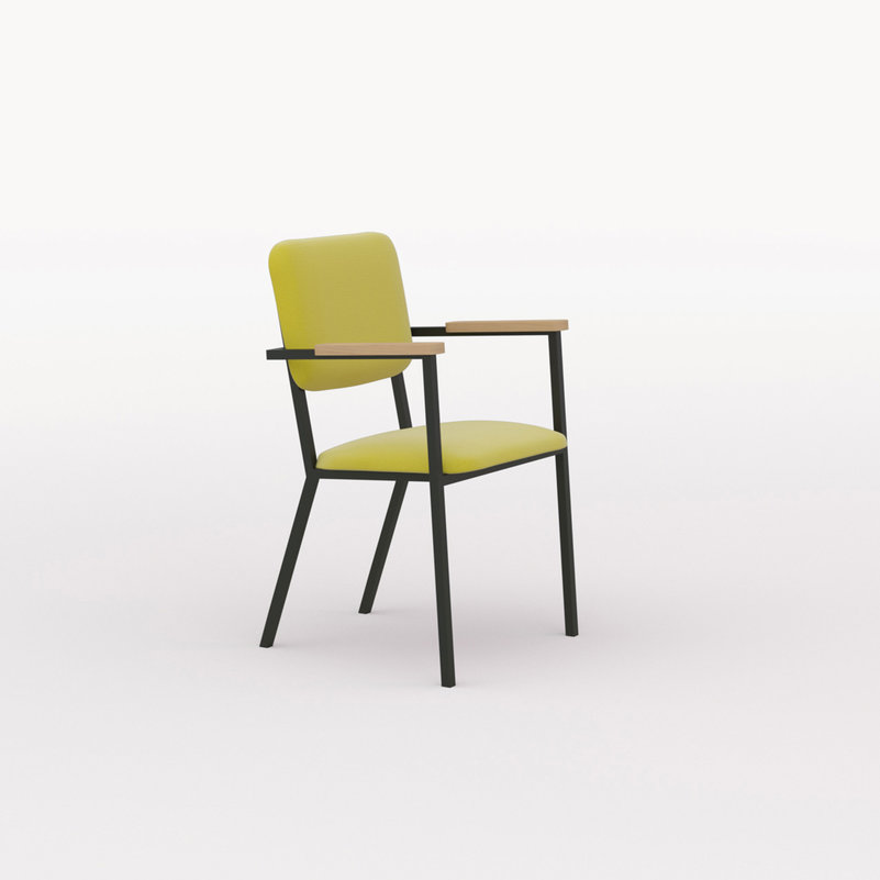 Design eetkamerstoel | Co Chair with armrest hallingdal65 457 | Studio HENK | Listing_image