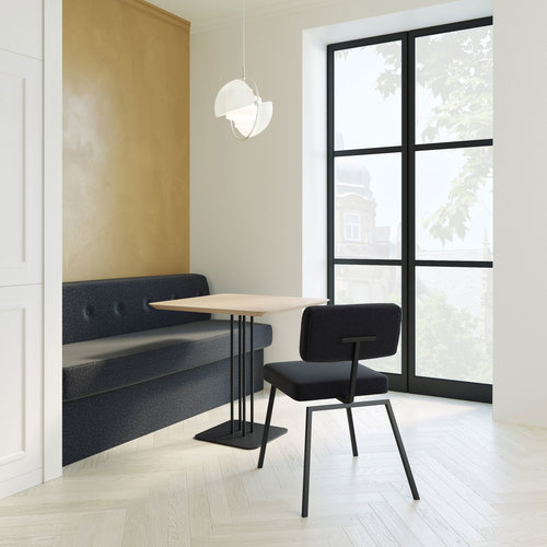 Design eetkamerstoel | Ode Chair without armrest hallingdal65 190 | Studio HENK | Setting