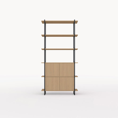 Design wandkast | Modular Cabinet MC-6L Eiken hardwax olie naturel light 3041| Studio HENK | Listing_image