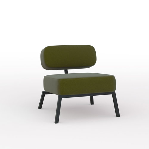 Design zitbank | Ode lounge chair 1 seater without armrest  steelcut2 985 | Studio HENK