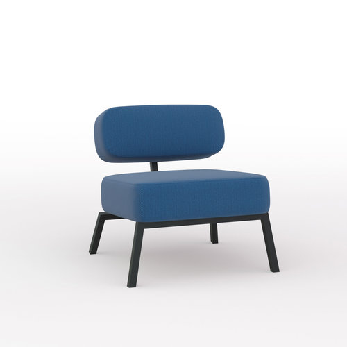 Design zitbank | Ode lounge chair 1 seater without armrest  steelcuttrio3 865 | Studio HENK