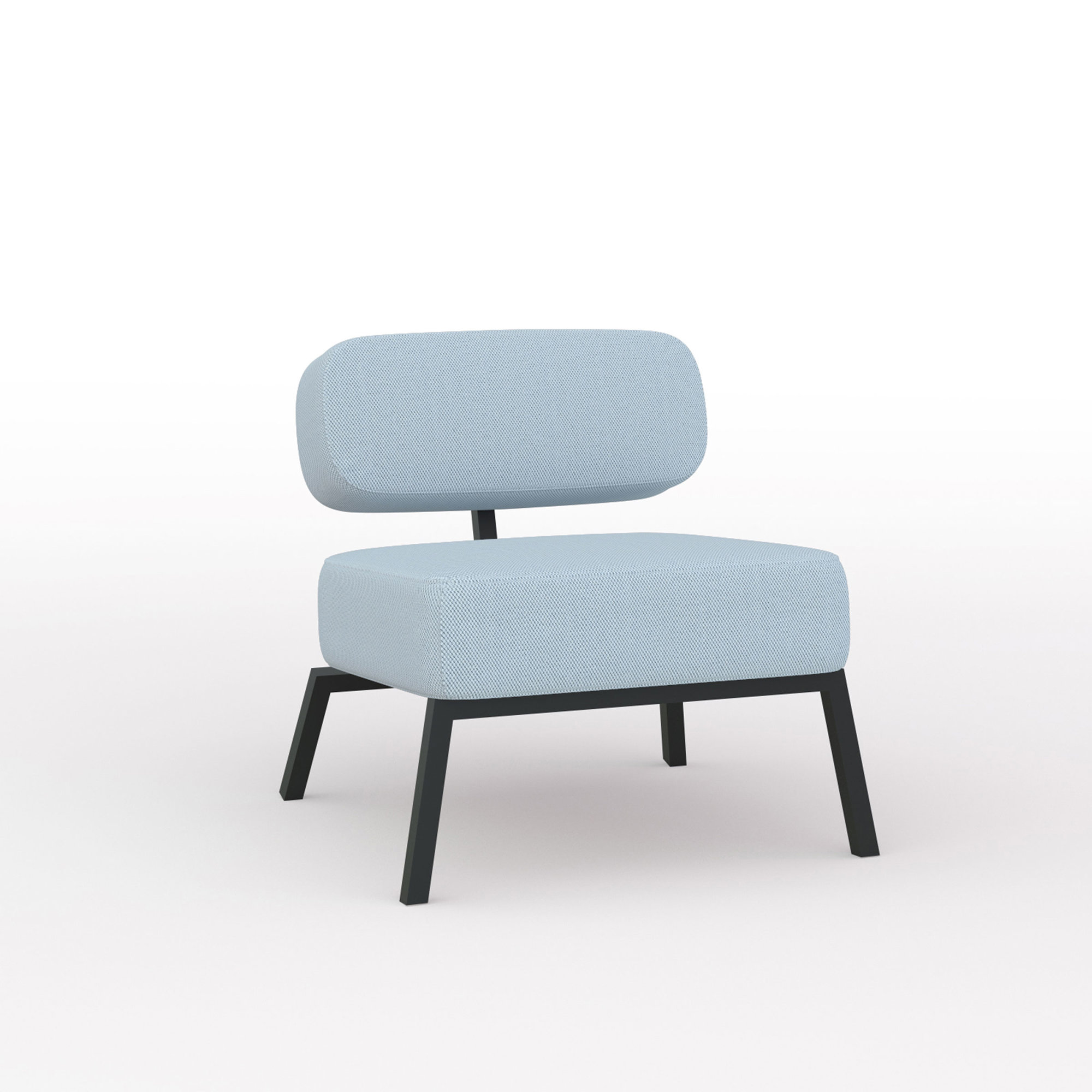 Design zitbank | Ode lounge chair 1 seater without armrest  steelcuttrio3 713 | Studio HENK | Listing_image