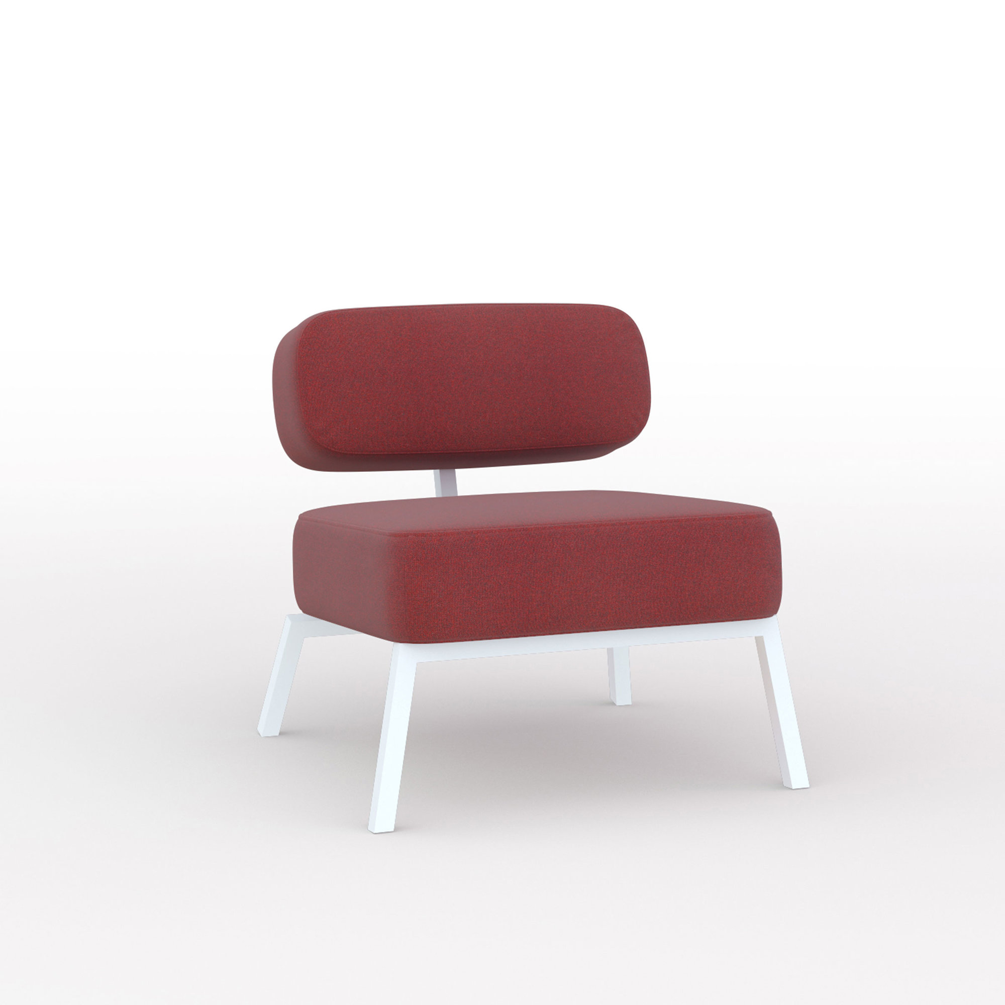 Design zitbank | Ode lounge chair 1 seater without armrest  tonica2 612 | Studio HENK | Listing_image