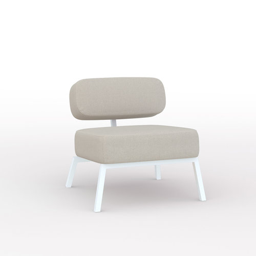 Design zitbank | Ode lounge chair 1 seater without armrest  twillweave 230 | Studio HENK