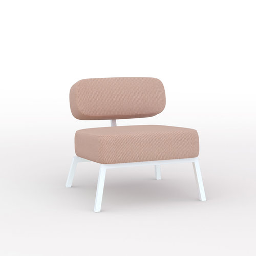 Design zitbank | Ode lounge chair 1 seater without armrest  twillweave 530 | Studio HENK