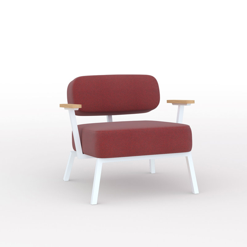 Design zitbank | Ode lounge chair 1 seater with armrest tonica2 612 | Studio HENK | Listing_image