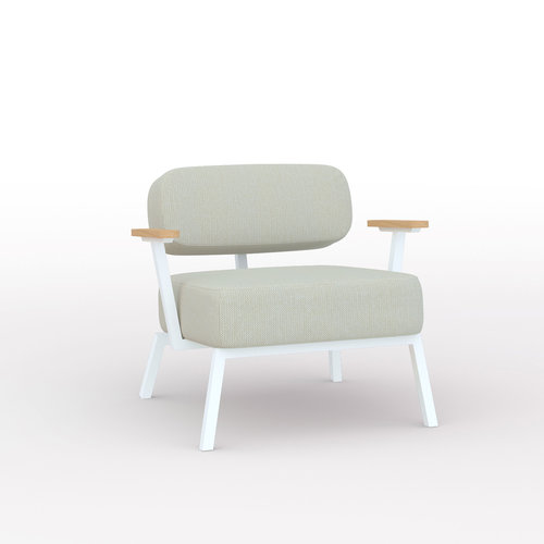 Design zitbank | Ode lounge chair 1 seater with armrest hallingdal65 200 | Studio HENK