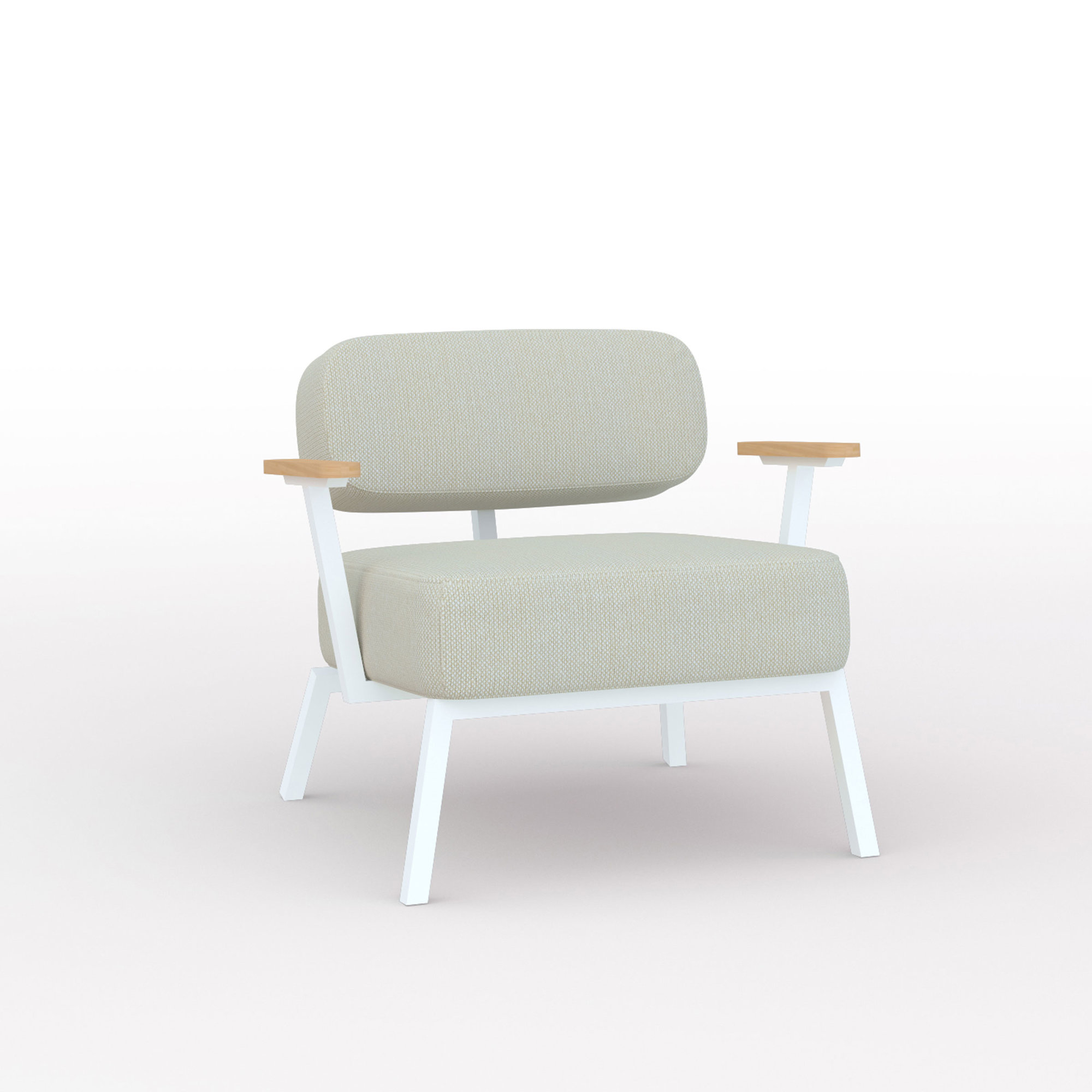 Design zitbank | Ode lounge chair 1 seater with armrest hallingdal65 200 | Studio HENK | Listing_image