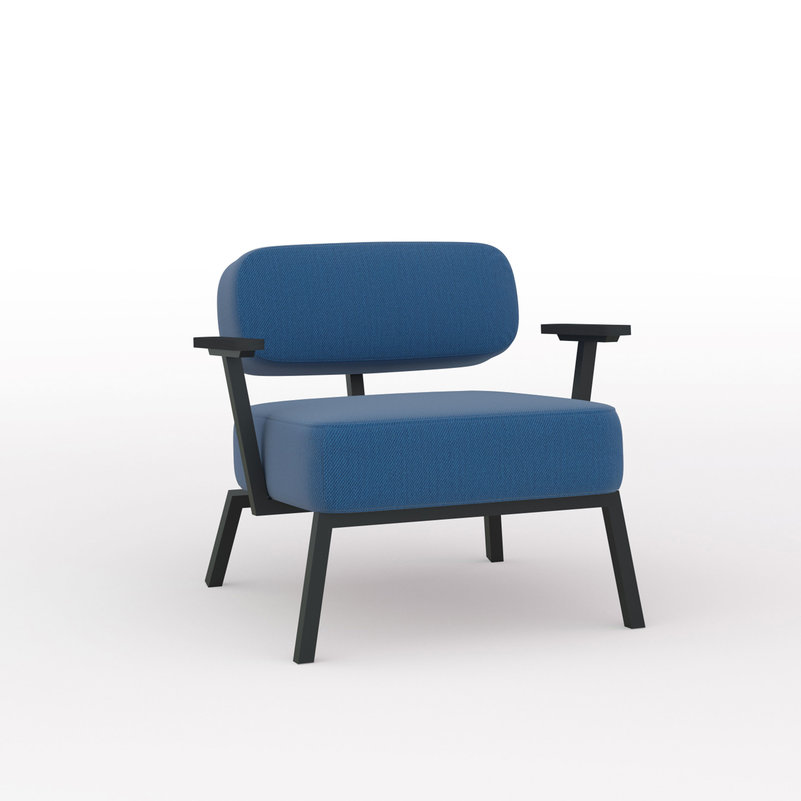Design zitbank | Ode lounge chair 1 seater with armrest steelcuttrio3 865 | Studio HENK | Listing_image