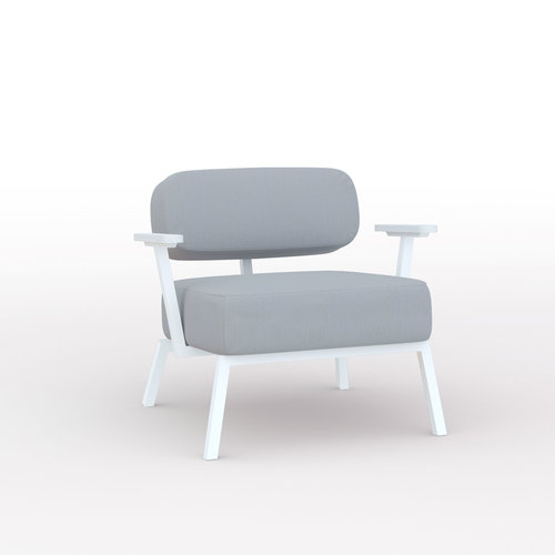 Design zitbank | Ode lounge chair 1 seater with armrest steelcuttrio3 105 | Studio HENK